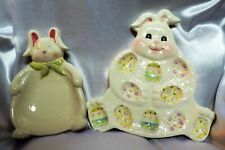 Collectible Ceramic Easter Egg Plate & Candy Dish
