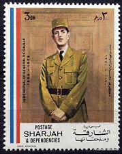 SHARJAH CHARLES DE GAULLE GENERAL FRANCAIS   TIMBRE VIGNETTE 88M311
