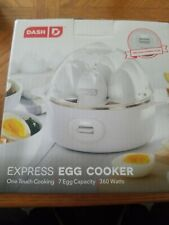 Dash Express Egg Cooker 7 Egg Capacity One Touch Cooking NEW