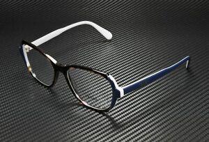 PRADA PR 03VV W3C1O1 Heritage Havana Blue Grey Demo Lens 54mm Women's Eyeglasses