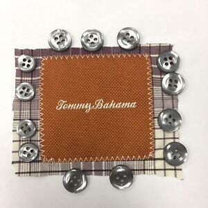 Tommy Bahama 15 Replacement Buttons Mens Shirt Purple Gray Various Sizes Crafts
