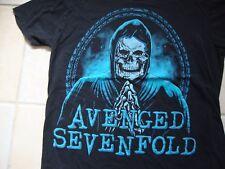 Avenged Sevenfold Rock Band Concert Tour Fan Black T Shirt Size M