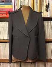 New CARVEN Paris smart waffle cotton grey jacket blazer FR 40 UK 10-12 / US 6-8