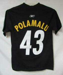 Pittsburgh Steelers Mens Size Small or Medium Troy Polamalu #43 T-Shirt A1 2034