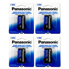 Lot Of 4 Pcs Panasonic Battery 9 Volt Super Heavy Duty Carbon Zinc Batteries New