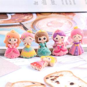 20 pcs Cartoon Style Resin Pretty Girls Flat Back Princesses Craft Decors 2-3cm
