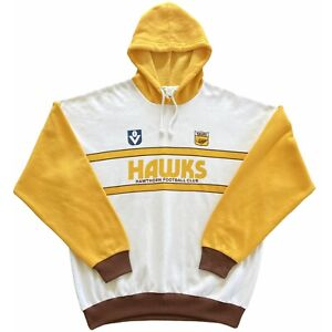 Authentic Vintage Wilton VFL Hawthorn Hawks 1983-89 Hoodie. Size XL, Exc Cond.