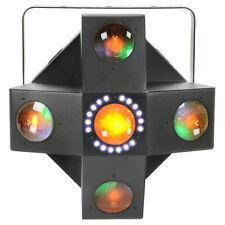 QTX Collider 2 FX IN 1 Red Green Blue White Amber Moonflower Light + Strobe Dmx