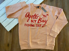 "J. Crew Women's ""Oyster Bay"" Fishing Graphic Sweatshirt - Cotton Terry - NWT"