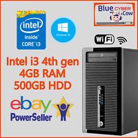 Cheap Fast Win 10 HP INTEL i3 4TH GEN PC Computer 4GB RAM 500GB HD WiFi HDMI