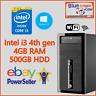 Cheap Fast Win 10 HP INTEL i3 4th GEN PC Computer 4GB RAM 500GB HDD WiFi HDMI