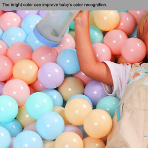 100PCS 5.5CM Balls Soft Plastic Ocean Ball Funny Baby Kids Swim Pit Pool BB Toys