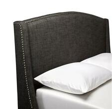 Nailbutton Wingback Headboard - Charcoal - P/U ONLY!