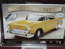 TESTORS 1957 CHEVY BEL AIR ASSEMBLY KIT 1/24 SKILL LEVEL 2 SEALED YELLOW/WHITE