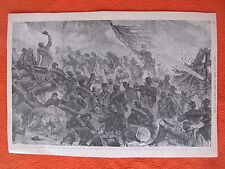 1884 Civil War Print - Battle Of The Clouds, Lookout Mountain, Tennessee 1863