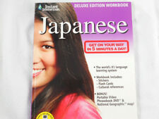 Instant Immersion JAPANESE Deluxe Workbook CD-ROM Stickers Flashcards 2008 NEW