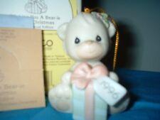Precious Moments Wishing You A Bear-Ie Merry Christmas #531200 Bear Ornament New