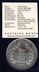 10 Rupees Silber 1973 Indien (06598)