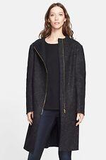 Nordstrom Signature and Caroline Issa Black Wool Coat, Sz M,