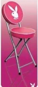 playboy vintage folding stool pink