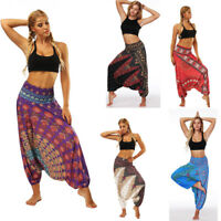 Le donne Yoga sciolto Casual pantaloni Baggy Boho larghi allentato Harem Pants