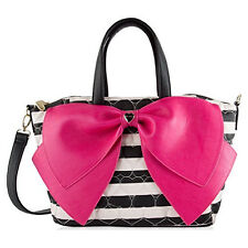 Betsey Johnson Satchel purse candy stripe New with tags br21090