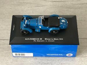 IXO MODELS LM1934 Alfa Romeo 8C #9 Winner 24h Le Mans 1934 Etancelin 1/43