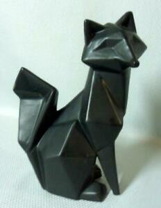 Mid Century Modern Abstract Cubist Art Pottery Cat Sculpture