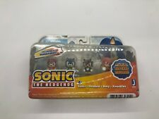 Sonic the Hedgehog Jazwares SEGA Flocked Figure Set - Shadow; Knuckles; Amy NIP!