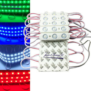 2835 3LED injection Led module 12v with lens waterproof 160 degree 1.5w