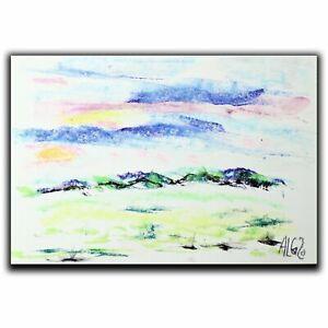 "Painting ""Landscape"" chalk 30 cm Andreas Loeschner-Gornau Bauhaus"