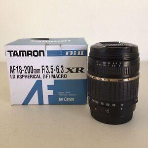 Tamron Di II AF 18-200mm F/3.5 - 6.3 XR LD Aspherical (IF) Macro Lens Boxed #661