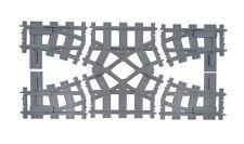 Doppel Crossover, Weichen kompatibel mit Lego Train Eisenbahn 60197 60198 7996