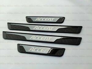 Para Hyundai Accent Coches Accesorios Car Piezas Puerta Umbral Placa De Desgaste