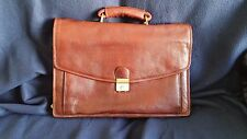 ~  AMIET SWISS EXECUTIVE SUPERB LEATHER OFFICE BAG/BROWN/42X32 CM/HIGH VALUE BAG