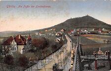 AK Görlitz Am Fuße der Landeskrone Strassenbahn Ansicht