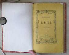 physiologie du duel  par Alfred D'Almbert 1867