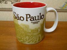 STARBUCKS Sao Paulo Brazil/Brasil 18 0z City Coffee Mug /Cup RARE new 2013