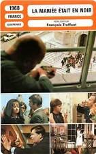 FICHE CINEMA : LA MARIEE ETAIT EN NOIR - Moreau,Truffaut 1968 Bride Wore Black