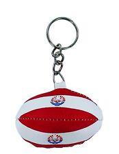 mini RUGBY BALL keychain keyring key flag FRENCH POLYNESIA POLYNESIAN SHIRT