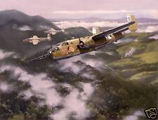 """Precision Bombing"" Jack Fellows B-25 Mitchell Giclee Print"
