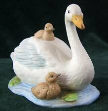 Homco Swan and her Babies Figurine