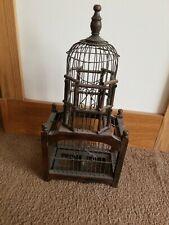 Vintage Bird Cage wood/ wire made in the phillipines