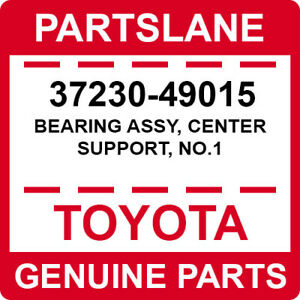 37230-49015 Toyota OEM Genuine BEARING ASSY, CENTER SUPPORT, NO.1