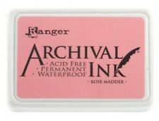Ranger Archival Ink Pad Non Bleed Permanent Fade Resistant - Rose Madder Pink
