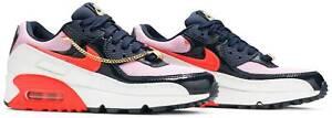 Nike Air Max 90 Women's Shoes Size 10 New W/Box CZ8099 100 Cuban Link Obsidian