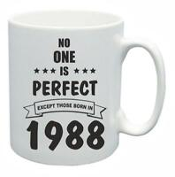 31st Novelty Birthday Gift Present Tea Mug No One Is Perfect 1988 Coffee Cup