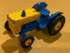 Vintage Matchbox Lesney No 39 Blue & Yellow Ford Tractor