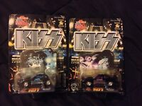 KISS RACING CHAMPIONSHIP STEEL DIE CAST COLLECTOR CARS PAUL STANLEY ACE FREHLEY