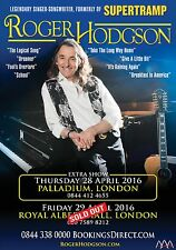 ROGER HODGSON 2016 LONDON, UK CONCERT TOUR POSTER - Supertramp Singer Songwriter